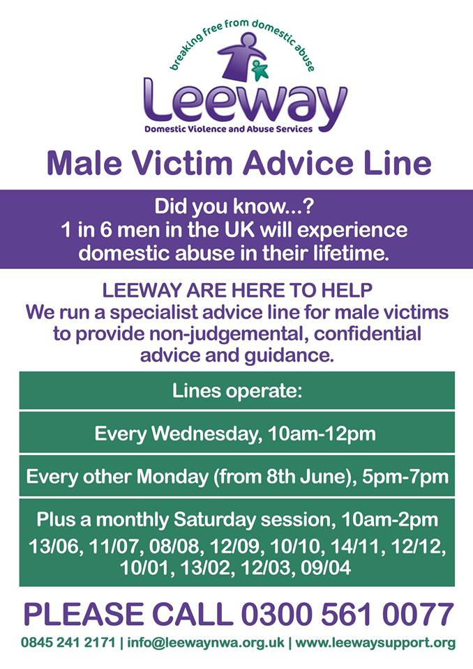 Male victim support poster