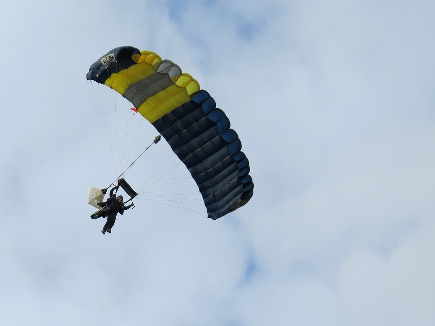One of our charity skydiving events from last year.