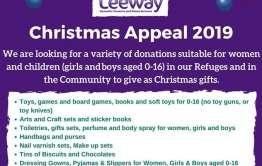 Christmas appeal poster leeway