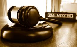 Folder labelled family court