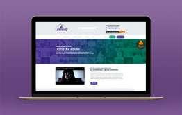 Screenshot of new Leeway website