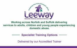 leeway domestic abuse awareness training flyer