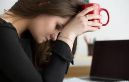 Unhappy female employee