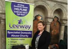 Talking about domestic abuse at Norwich Cathedral on International Women's Day