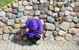 homeless woman alone