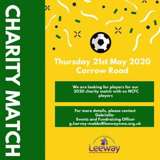 charity football match poster