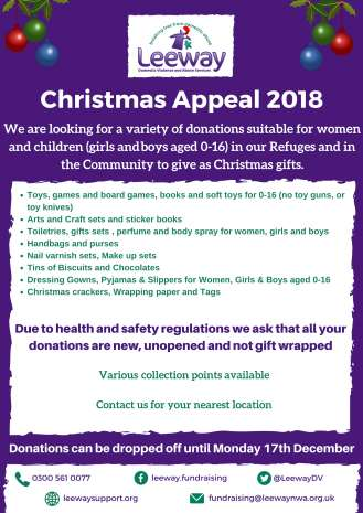 Christmas appeal 2018 poster
